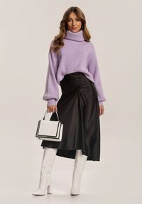 Renee - Czarna Spódnica Dracoth. Kolor: czarny. Materiał: tkanina, guma. Wzór: gładki. Styl: klasyczny