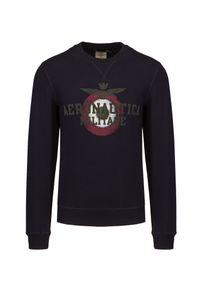 Aeronautica Militare - Bluza AERONAUTICA MILITARE. Okazja: na co dzień. Materiał: bawełna, jeans, elastan. Wzór: moro, nadruk. Styl: klasyczny, casual, militarny