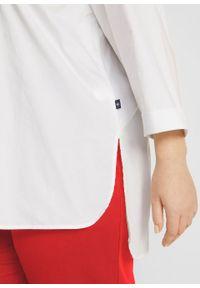 Bluzka oversize z ochroną przed promieniowaniem UV, długa bonprix biały. Kolor: biały. Długość: długie