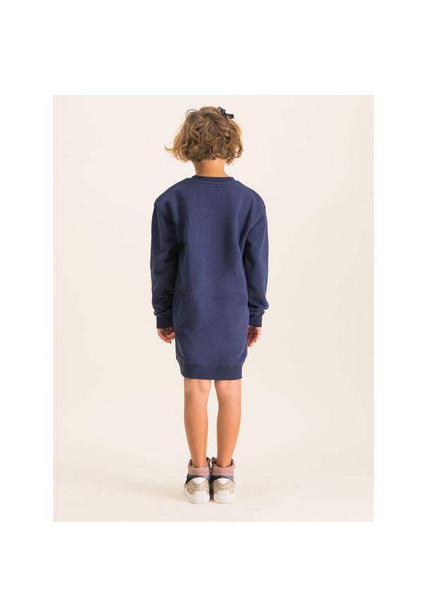 Niebieska sukienka Calvin Klein Jeans prosta, na co dzień, casualowa
