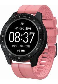 Różowy zegarek Garett Electronics sportowy, smartwatch