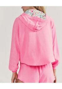 LOVE SHACK FANCY - Różowa bluza z kapturem Zip Up LSF x Hurley. Typ kołnierza: kaptur. Kolor: różowy, wielokolorowy, fioletowy. Materiał: tkanina. Długość rękawa: długi rękaw. Długość: długie