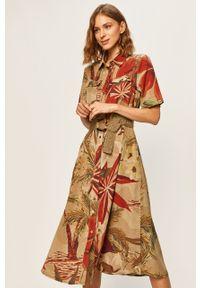 Wielokolorowa sukienka Desigual midi, z krótkim rękawem, casualowa