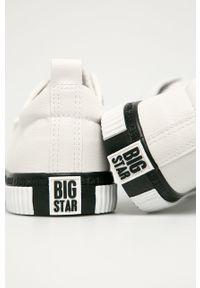 Białe niskie trampki Big-Star z okrągłym noskiem, z cholewką