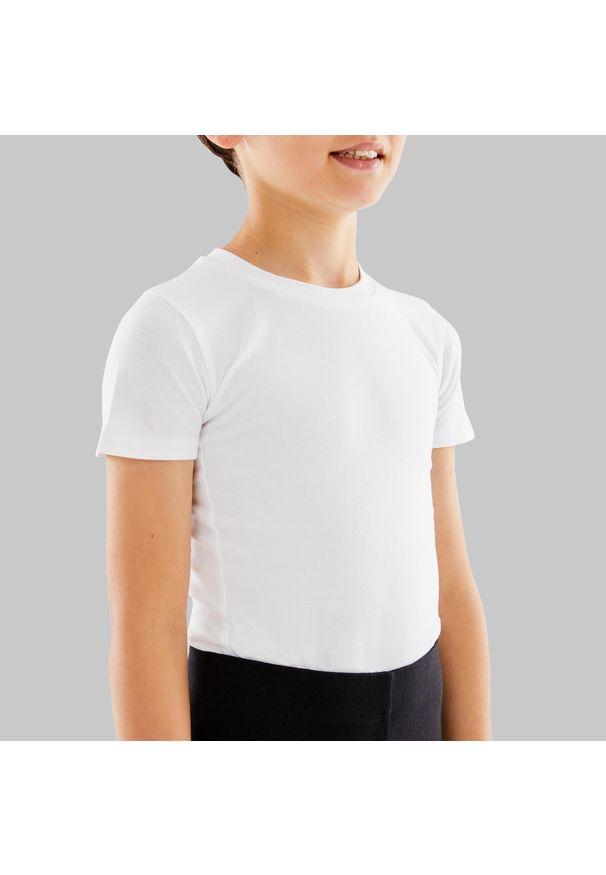 STAREVER - Koszulka krótki rękaw do tańca klasycznego dla chłopców Starever. Materiał: bawełna, poliester, materiał, elastan. Długość rękawa: krótki rękaw. Długość: krótkie. Sport: taniec