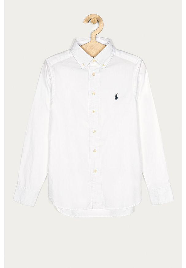 Biała koszula Polo Ralph Lauren na co dzień, casualowa