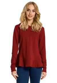 Czerwona bluzka z długim rękawem MOE