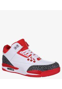 Casu - Białe buty sportowe sznurowane casu 201c/wr5. Kolor: biały, wielokolorowy, czerwony
