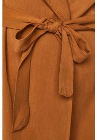 Brązowy płaszcz ANSWEAR bez kaptura #6