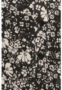 Czarna sukienka Haily's w kwiaty, na co dzień, prosta, casualowa