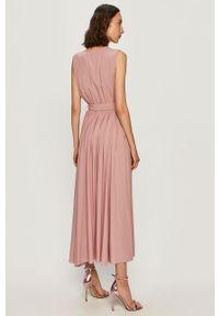 Różowa sukienka Miss Sixty na co dzień, casualowa, prosta