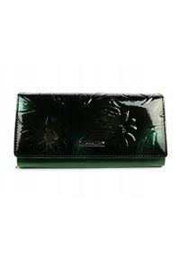 Zielony portfel 4U CAVALDI w kwiaty