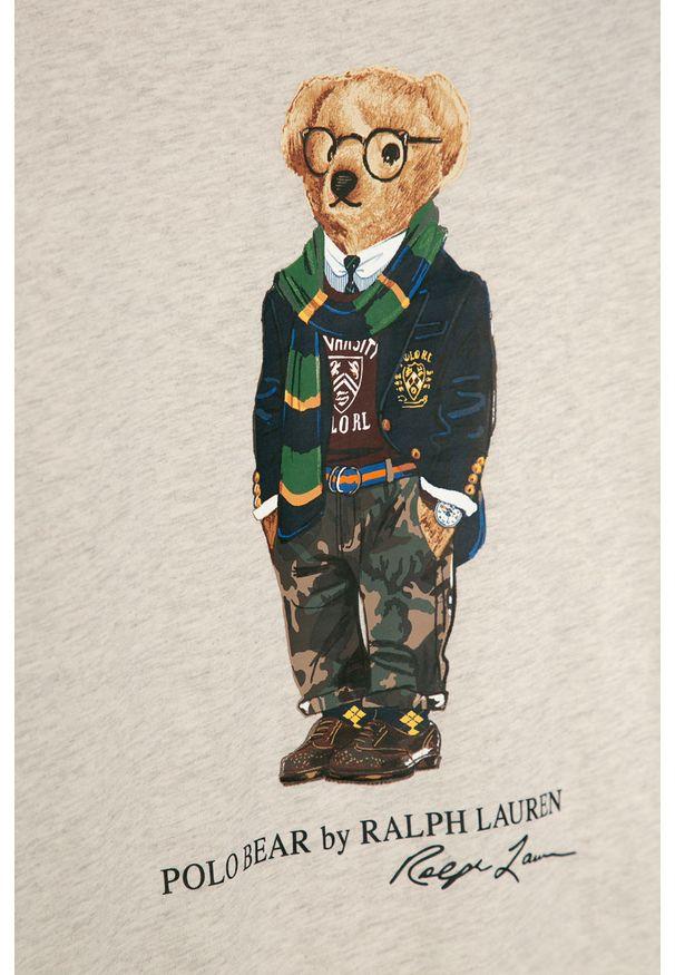 Beżowa koszulka z długim rękawem Polo Ralph Lauren casualowa, na co dzień, polo, z nadrukiem