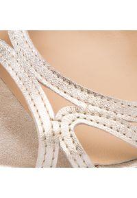 Złote sandały Maccioni eleganckie