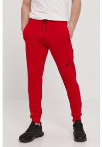 4f - 4F - Spodnie. Okazja: na co dzień. Kolor: czerwony. Styl: casual