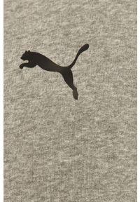 Szara bluza rozpinana Puma z kapturem, gładkie