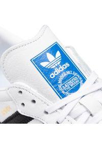 Białe półbuty casual Adidas z cholewką, na co dzień