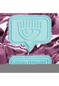 Różowa torebka klasyczna Chiara Ferragni zdobiona, z aplikacjami