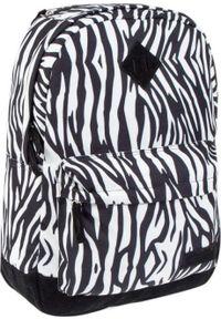 Starpak Plecak szkolny Zebra biały. Kolor: biały. Wzór: motyw zwierzęcy