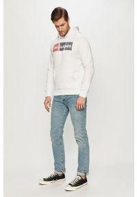 Jack & Jones - Bluza bawełniana. Okazja: na co dzień. Typ kołnierza: kaptur. Kolor: biały. Materiał: bawełna. Wzór: nadruk. Styl: casual #4