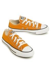 Converse - Trampki CONVERSE - Ctas Ox 168578C Saffron Yellow. Okazja: na co dzień. Kolor: pomarańczowy. Materiał: materiał. Szerokość cholewki: normalna. Styl: casual