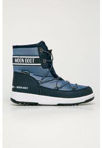 Moon Boot - Śniegowce. Nosek buta: okrągły. Zapięcie: sznurówki. Kolor: niebieski