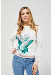 MOODO - Bluza z motywem roślinnym. Materiał: bawełna, poliester. Długość rękawa: długi rękaw. Długość: długie. Wzór: nadruk