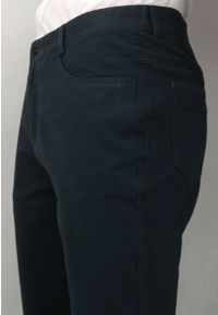 Ezreal - Wizytowe Spodnie Męskie, Chinosy - 100% BAWEŁNA, Zwężane Nogawki, Grafitowe. Kolor: szary. Materiał: bawełna. Styl: wizytowy
