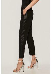 Czarne spodnie materiałowe Patrizia Pepe casualowe, z podwyższonym stanem
