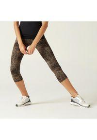 NYAMBA - Legginsy 7/8 fitness. Kolor: fioletowy. Materiał: poliester, materiał, bawełna, elastan. Sport: fitness