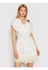 TwinSet Sukienka letnia 211MT2523 Biały Regular Fit. Kolor: biały. Sezon: lato