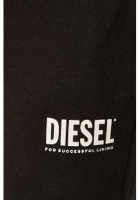Czarne spodnie dresowe Diesel melanż