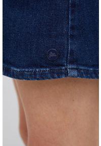 Pepe Jeans - Sukienka jeansowa Jenna. Okazja: na co dzień. Kolor: niebieski. Długość rękawa: długi rękaw. Typ sukienki: proste. Styl: casual