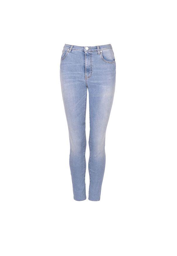 """Pinko Jeansy """"Elle"""". Stan: podwyższony. Materiał: jeans. Wzór: aplikacja"""