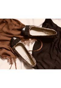 Baleriny Zapato bez zapięcia, eleganckie, z motywem zwierzęcym