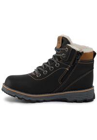 Czarne buty zimowe Action Boy z cholewką