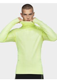 Żółta bluza nierozpinana 4f ze stójką, raglanowy rękaw