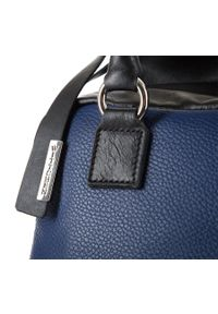 Niebieski kuferek Wittchen skórzany, elegancki