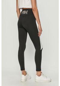 Czarne legginsy LABELLAMAFIA z podwyższonym stanem, z nadrukiem