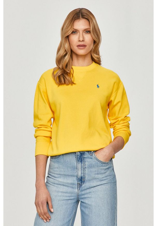 Żółta bluza Polo Ralph Lauren długa, polo, gładkie