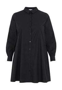 Zhenzi Długa koszula z popeliny Lady Czarny female czarny 42/44 (S). Kolor: czarny. Długość rękawa: długi rękaw. Długość: długie. Styl: elegancki