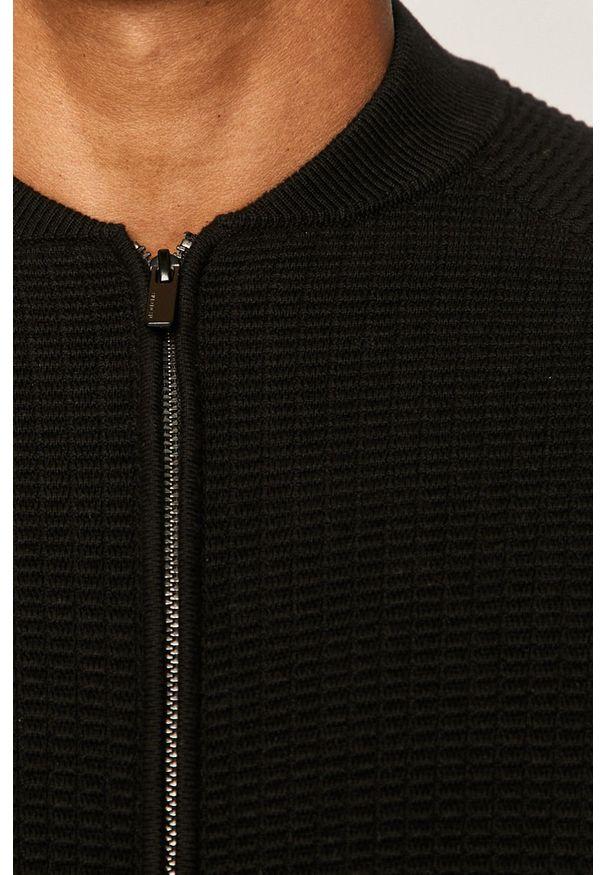 Czarny sweter rozpinany medicine na co dzień, casualowy
