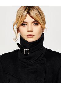 Alexander McQueen - ALEXANDER MCQUEEN - Czarny płaszcz z wełny. Kolor: czarny. Materiał: wełna. Sezon: zima #2