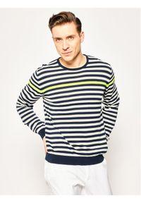 Sweter klasyczny Pierre Cardin w kolorowe wzory