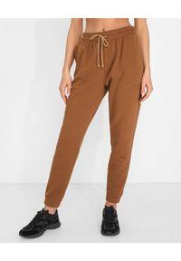 JENESEQUA - Bawełniane spodnie dresowe. Kolor: brązowy. Materiał: dresówka, bawełna. Wzór: haft. Sezon: wiosna, lato
