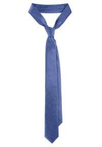 Niebieski krawat Lancerto w kropki, do pracy, casualowy