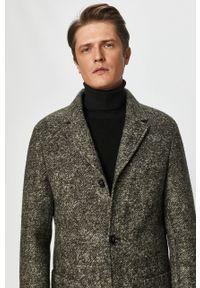 Oliwkowy płaszcz Calvin Klein bez kaptura, na co dzień
