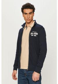 Tom Tailor - Bluza bawełniana. Okazja: na co dzień. Kolor: niebieski. Materiał: bawełna. Wzór: aplikacja. Styl: casual