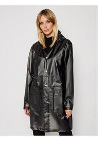 Czarna kurtka przeciwdeszczowa Rains