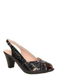 Czarne sandały Pitillos na lato, w kolorowe wzory